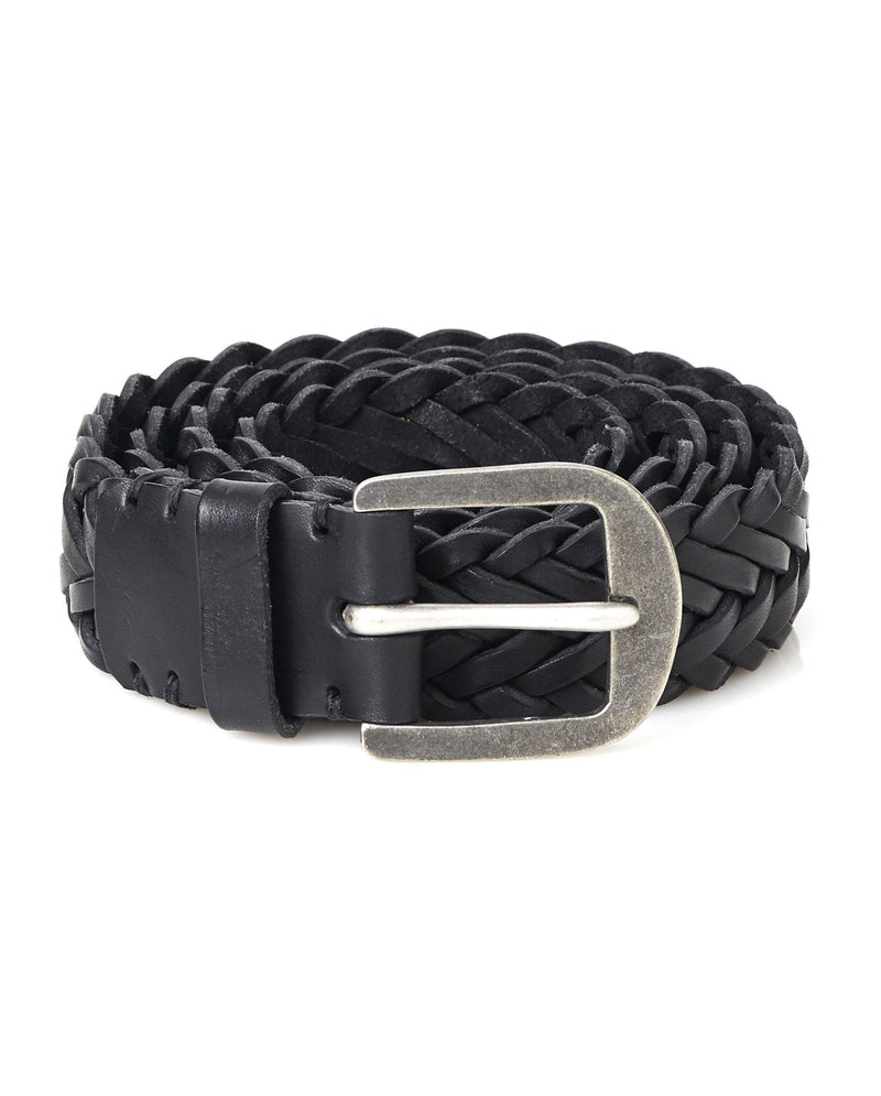 Braided Belt- Pitch Black / Pewter - Debonair