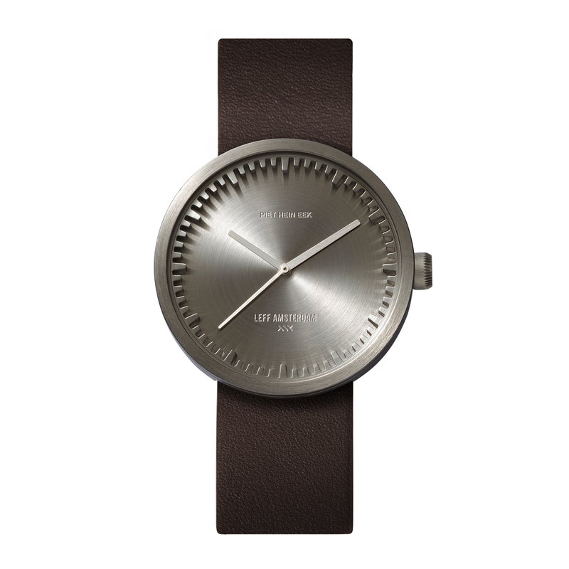 D Series - Steel Case Brown Leather Strap - Debonair