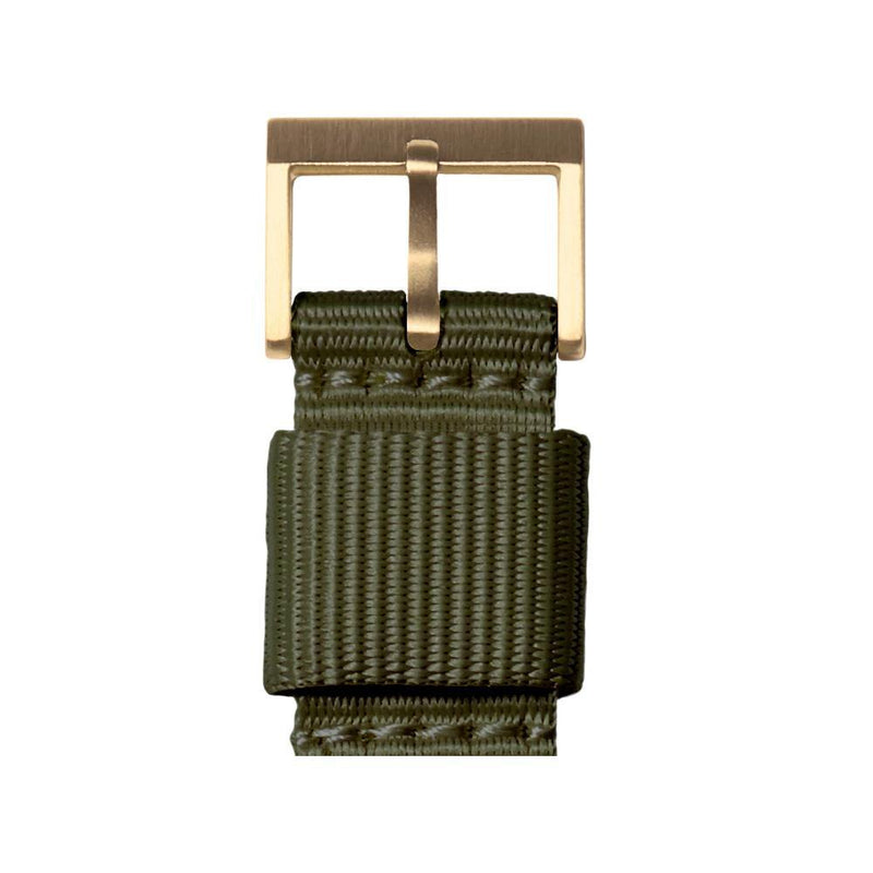 T Series - Brass Case Green NATO Strap - Debonair