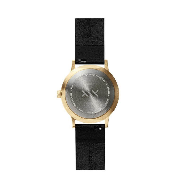 T Series Classic - Brass/Black Case Black Leather Strap - Debonair