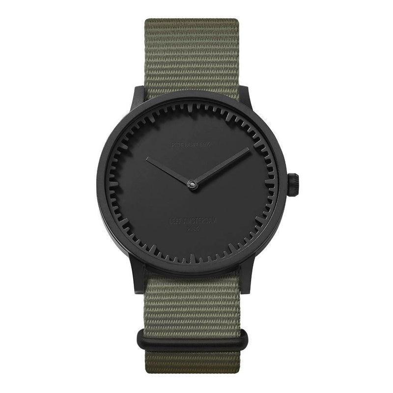 T Series - Matte Black Case Grey NATO Strap - Debonair