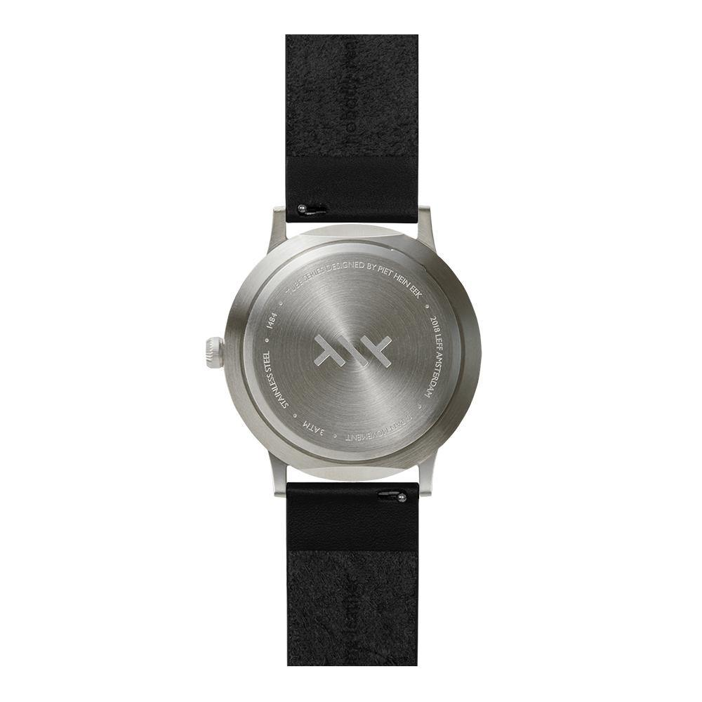 T Series Classic - Steel/Black Case Black Leather Strap - Debonair