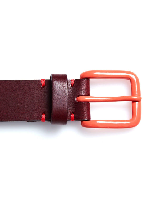 Modernist Belt - Oxblood / Terracotta - Debonair