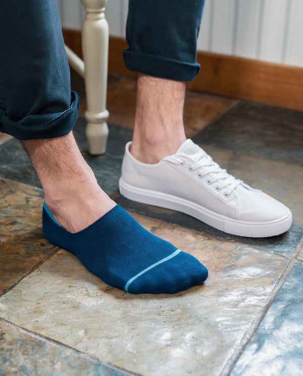 "Royal Blue ""No-Show"" Bamboo Socks"