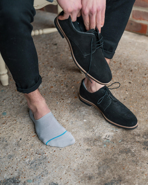 "Light Grey ""No-Show"" Bamboo Socks"