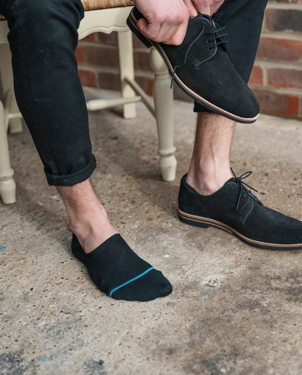 "Black ""No-Show"" Bamboo Socks"