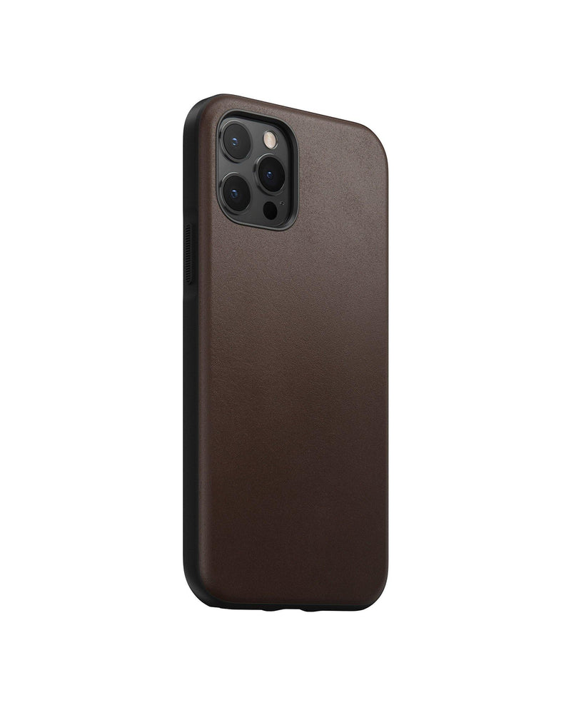 Rugged Case -  iPhone 12 Pro - Rustic Brown Leather