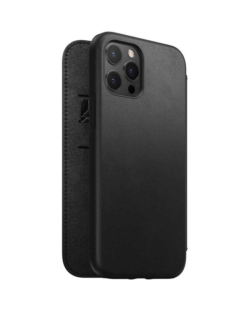 Rugged Folio -  iPhone 12 Pro Max - Black Leather