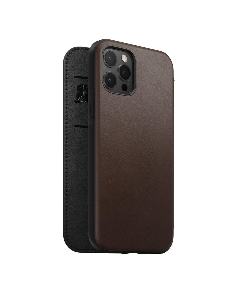 Rugged Folio -  iPhone 12 Pro - Rustic Brown Leather
