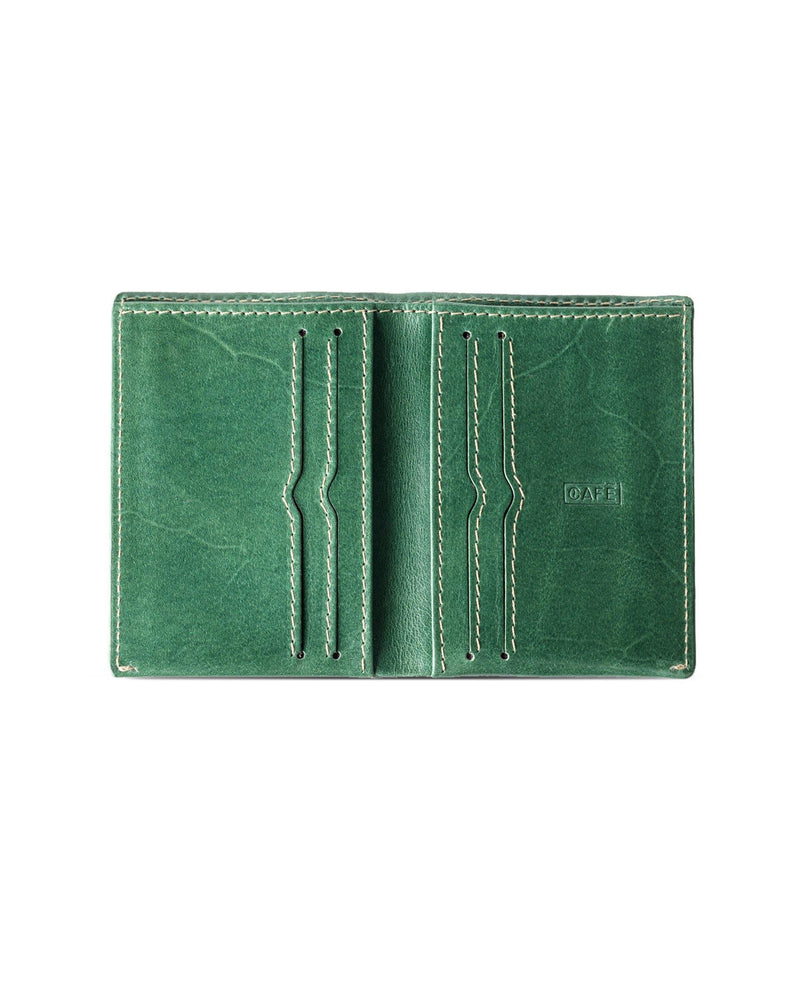 Slim Leather Wallet Costa Rica – Green - Debonair