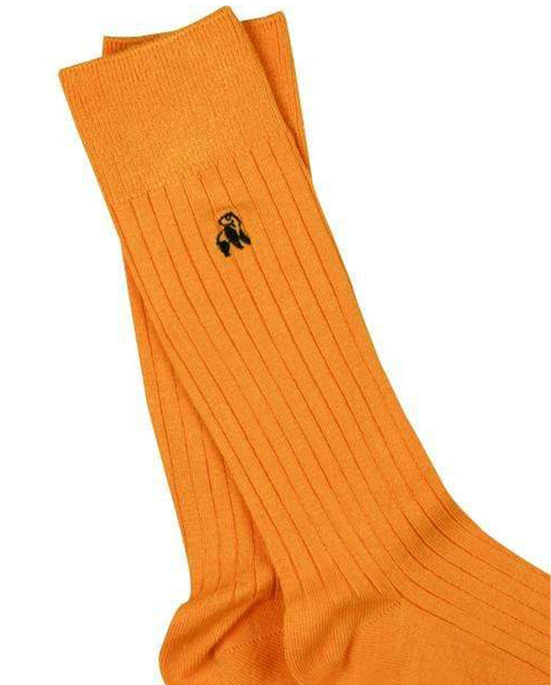 Tangerine Orange Bamboo Socks - Debonair
