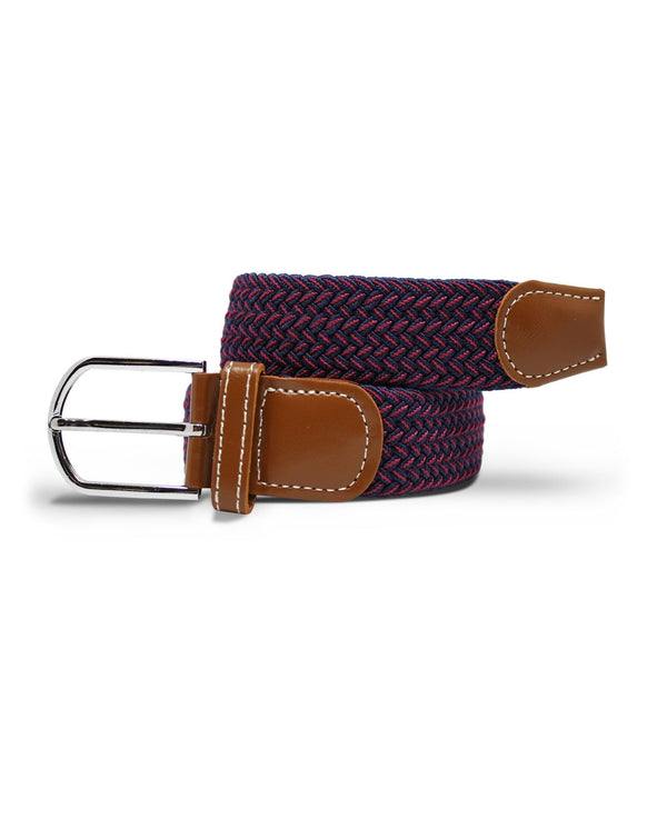 Woven Belt - Blue / Red Zigzag
