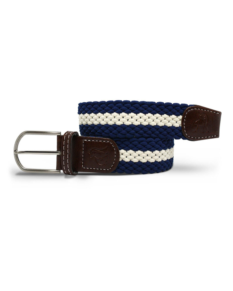 Woven Belt - Blue / White Stripe