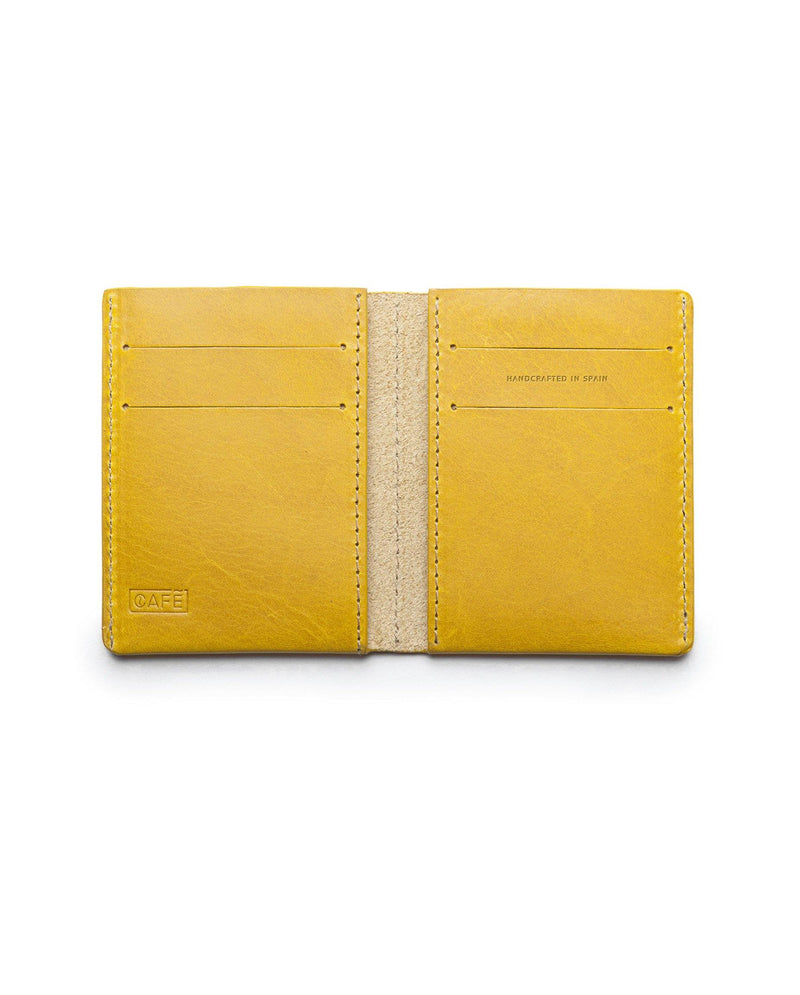 Ultra Slim Leather Wallet Jamaica – Spicy Mustard - Debonair