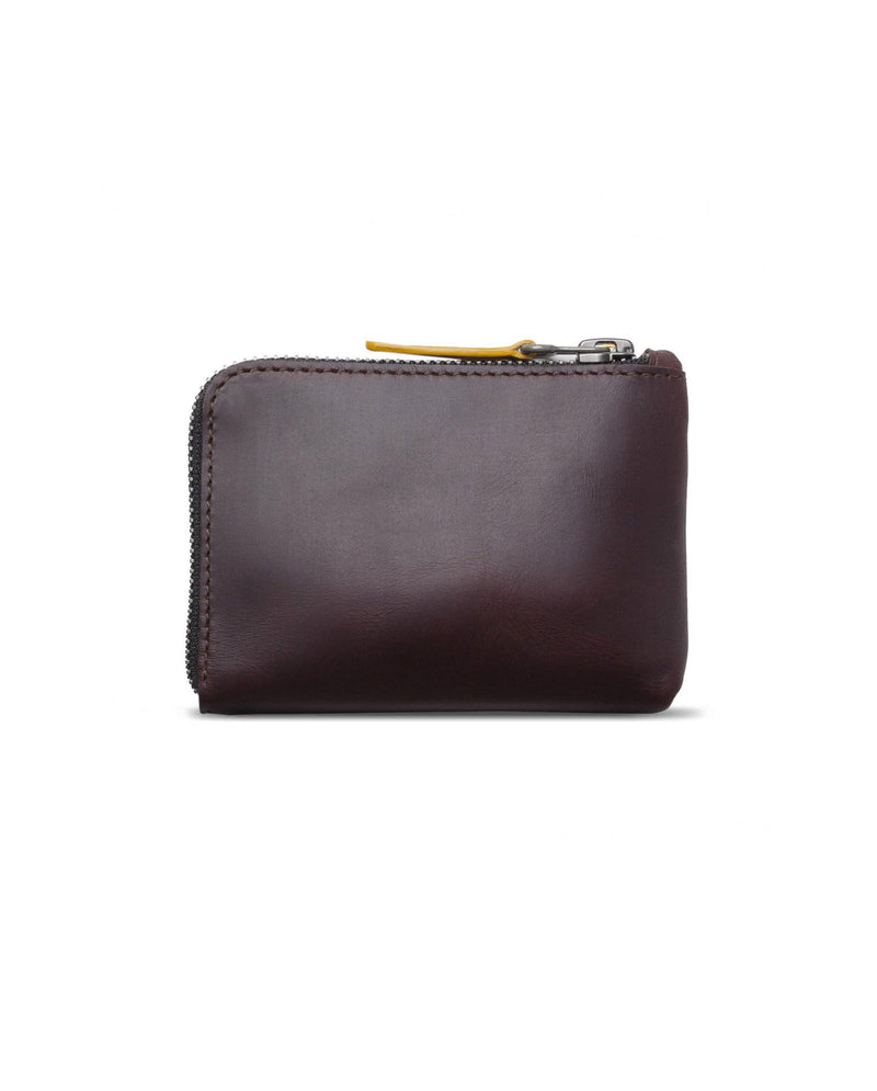 Leather Zip Wallet – Black Coffee