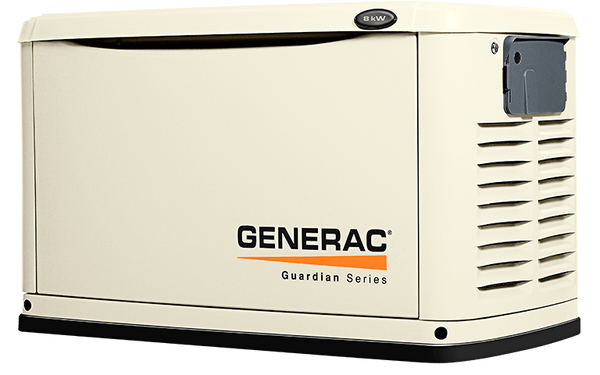 Natural or LP gas generator 8kW Guardian Series