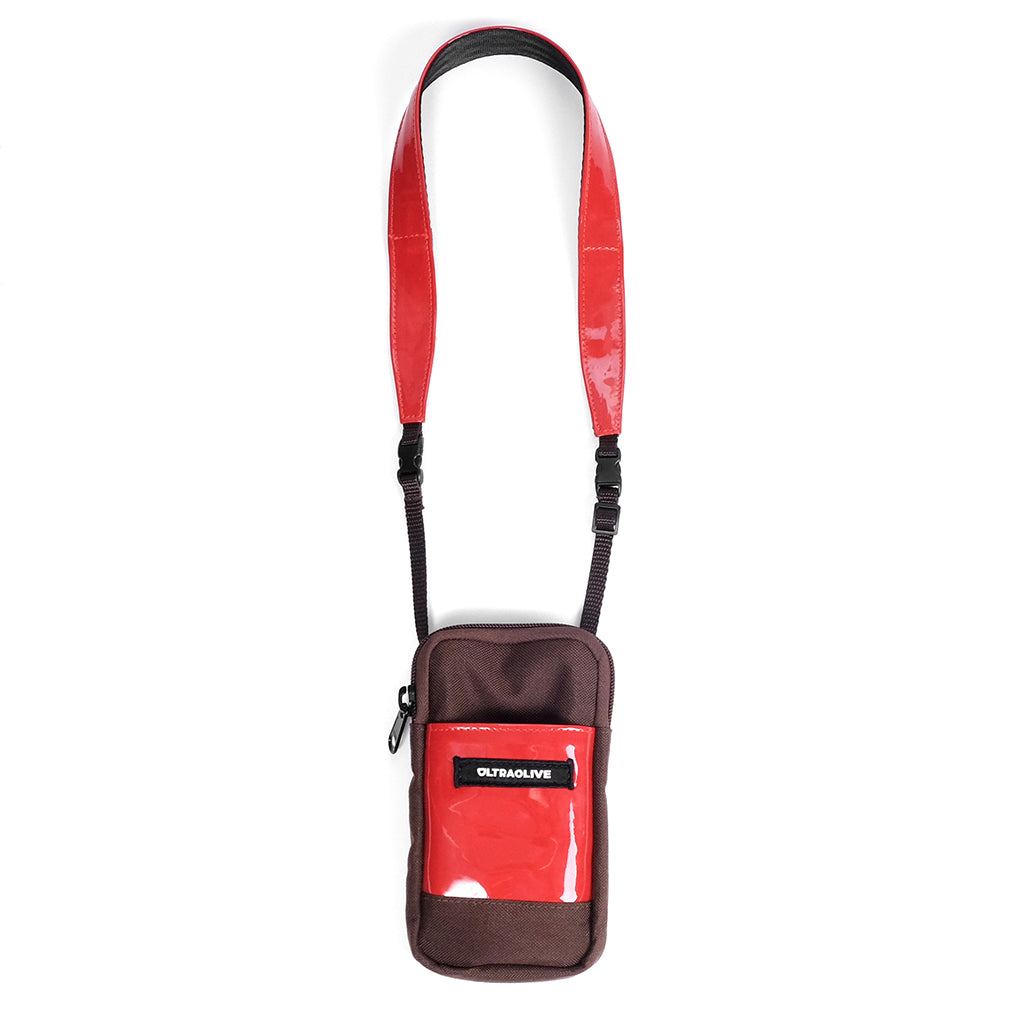 Neck Bag - Brown/Red