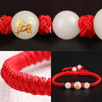 Load image into Gallery viewer, Lucky Charm Chinese Zodiac Red String Luminous Beads Bracelet