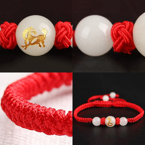 Lucky Charm Chinese Zodiac Red String Luminous Beads Bracelet