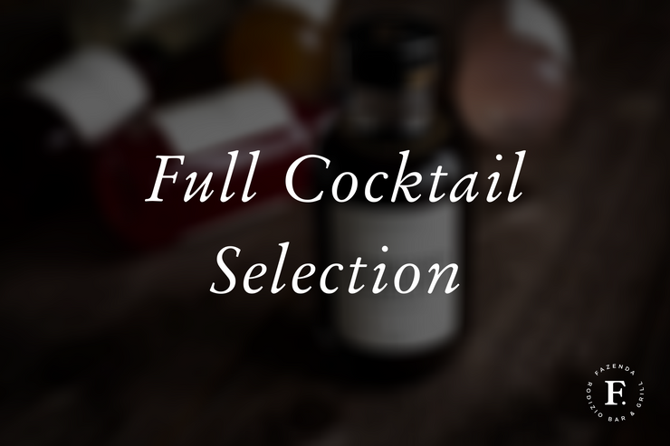 Full Cocktail Selection