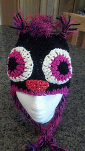 Fuzzy Owl Crochet Hat - Maddies Mad Hatters