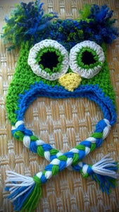 Owl Crochet Hat - Maddies Mad Hatters