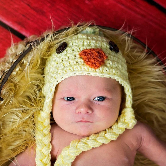 Baby Chick Crochet Hat
