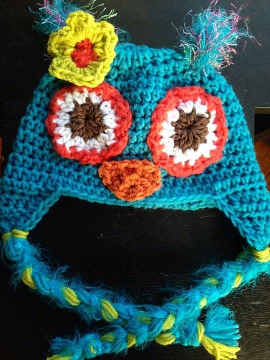Blues Lime and Fuchsia Owl