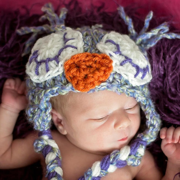 Boucle Sleepy Owl Crochet Hat