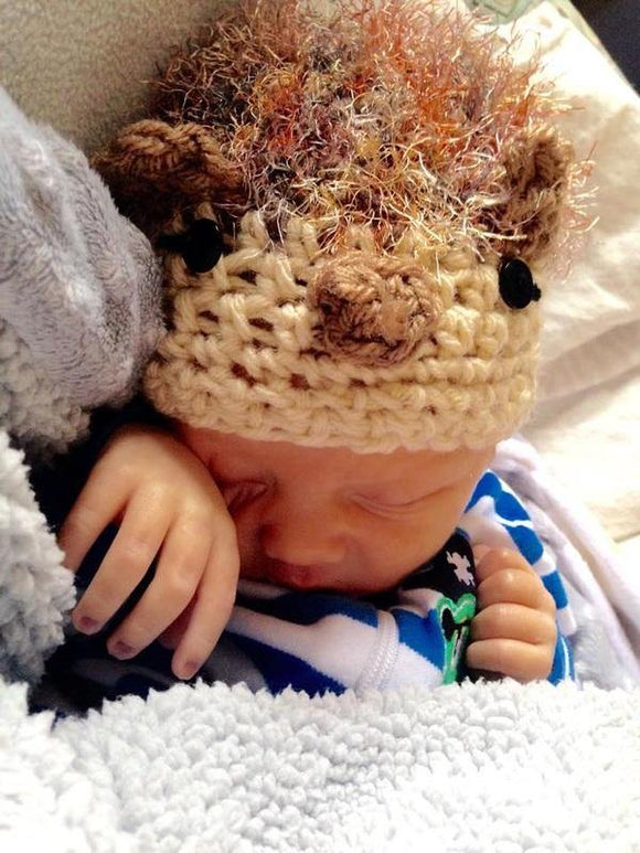 Hedgehog Crochet Hat - Maddies Mad Hatters