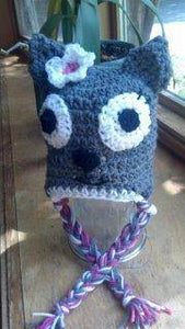 Kitty Cat Crochet Hat - Maddies Mad Hatters