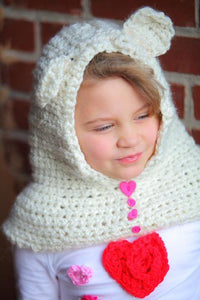 Bear Neck Warmer Crochet Hat - Maddies Mad Hatters