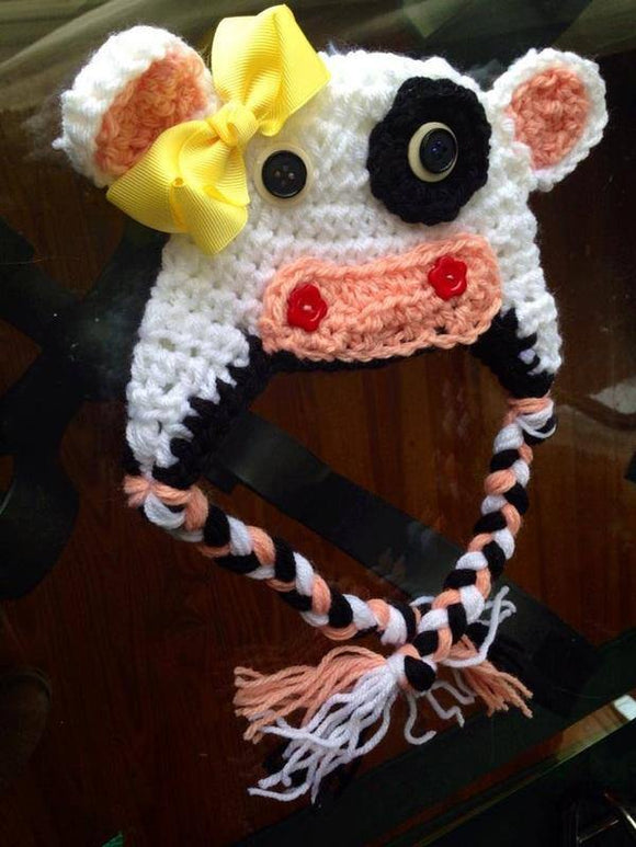 Cow Crochet Hat - Maddies Mad Hatters