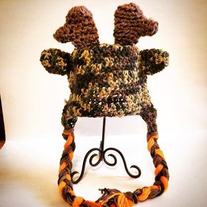 Camo Deer Crochet Hat with Tassels - Maddies Mad Hatters