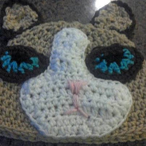Grumpy Cat Crochet Hat - Maddies Mad Hatters