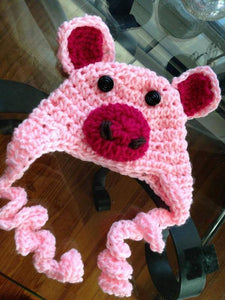 Piggie Crochet Hat - Maddies Mad Hatters