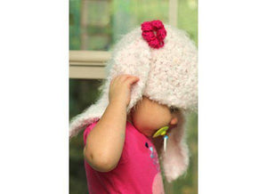Fuzzy Bunny Ears Crochet Hat - Maddies Mad Hatters