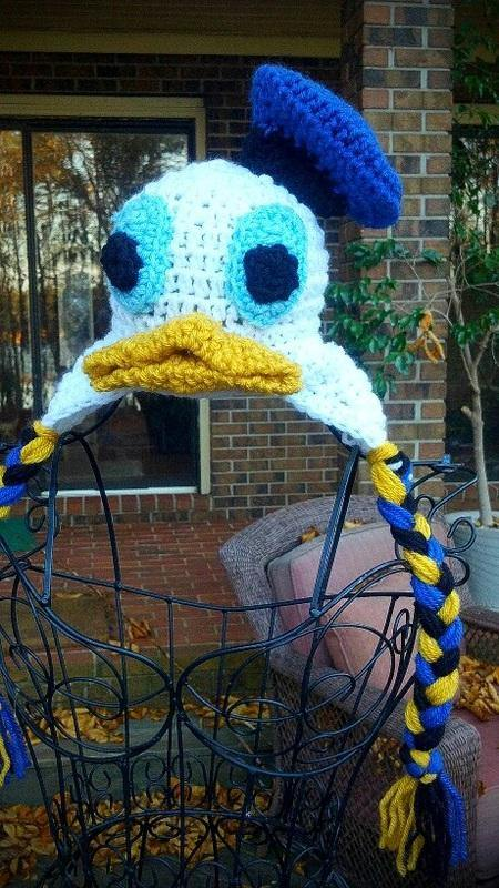 Donald Duck-inspired Crochet Hat