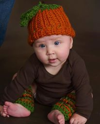 Pumpkin Crochet Hat and Legwarmer Set