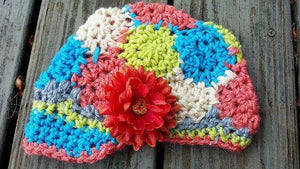 Granny Square Newsboy Crochet Hat - Maddies Mad Hatters