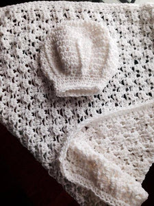 Chef Crochet Hat and Blanket Set - Maddies Mad Hatters