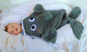 Shark Crochet Sleep Sack (Baby/Toddler) - Maddies Mad Hatters