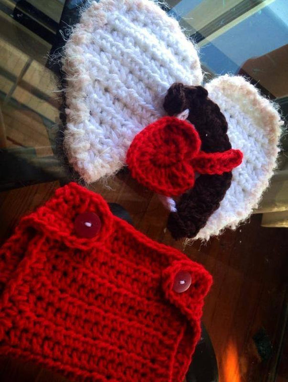 Cupid Crochet Hat and Diaper Cover Set - Maddies Mad Hatters