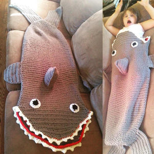 Crochet Shark Sleeping Sack - Maddies Mad Hatters