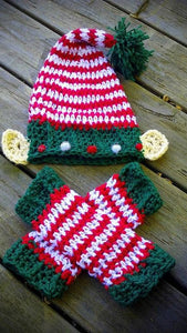 Elf Ears Crochet Hat and Legwarmers Set - Maddies Mad Hatters