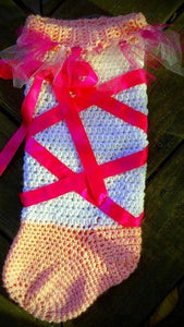 Ballet Crochet Stocking - Maddies Mad Hatters