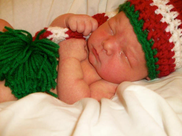 Elf Striped Crochet Hat