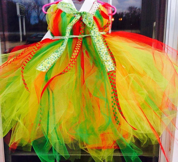 Christmas Elf Tutu Dress - Maddies Mad Hatters