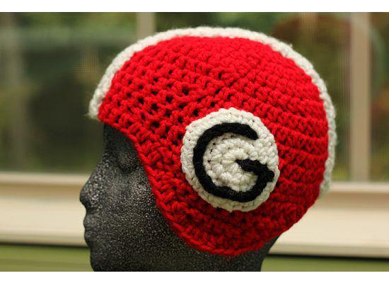 Bulldogs Football Helmet Crochet Hat - Maddies Mad Hatters