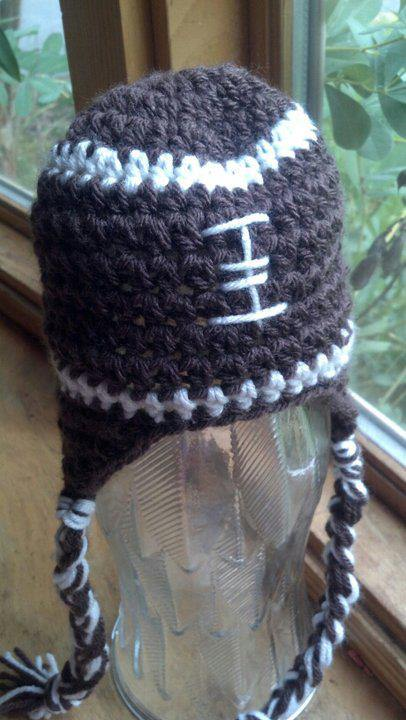 Football Crochet Hat - Maddies Mad Hatters